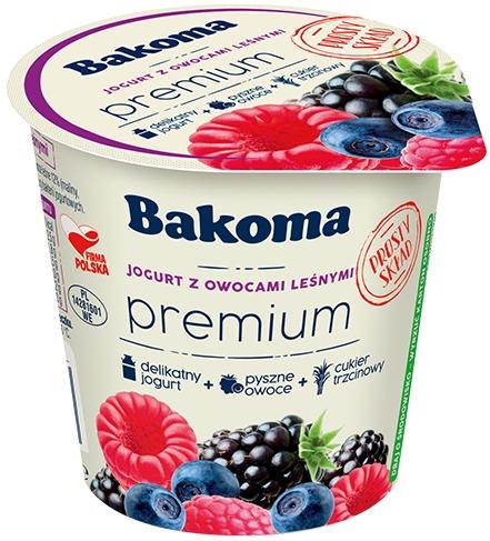 Bakoma Premium Jogurt z owocami leśnymi