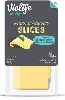 Violife Alternatywa żółtego sera w  plastrach 100% vegan, na bazie oleju kokosowego Bez Laktozy