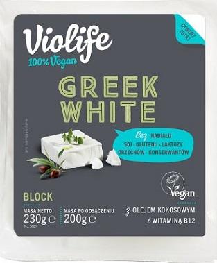 Violife Alternatywa Greckiego  białego sera 100% vegan na bazie oleju kokosowego