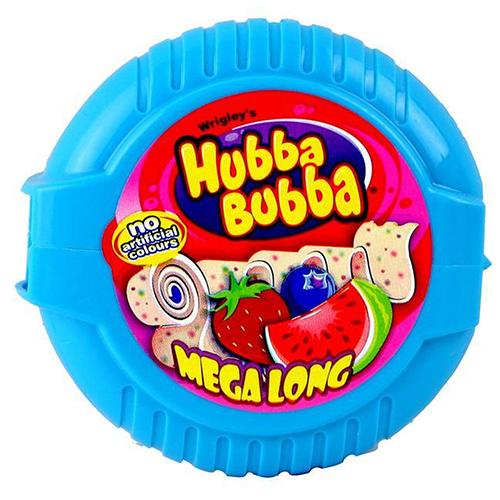 Hubba Bubba Guma do żucia o smaku truskawkowym, jagodowym i arbuzowym