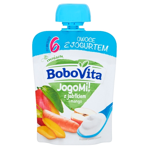 BoboVita mus w tubce JogoMi! z jabłkiem i mango