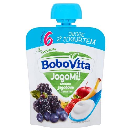 BoboVita mus w tubce JogoMi! owoce jagodowe z bananem