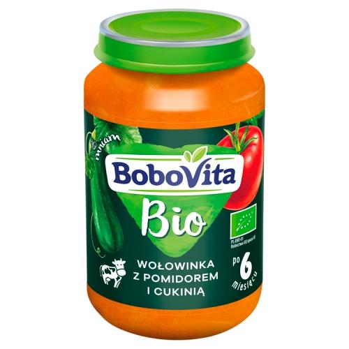BoboVita  BIO obiadek wołowinka z pomidorem i cukinią
