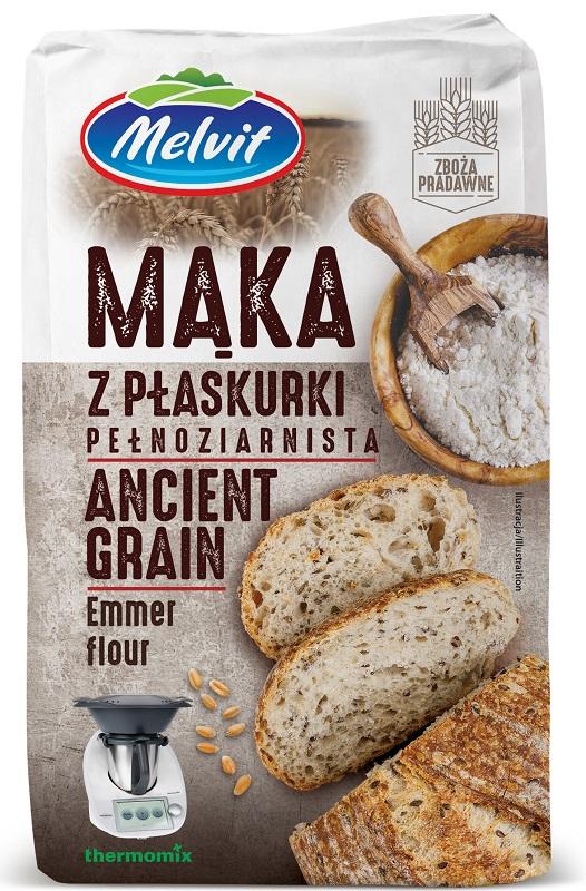 Melvit Mąka z płaskurki  pełnoziarnista