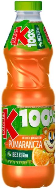Kubuś Sok z owoców i warzyw 100% jabłko marchew pomarańcza