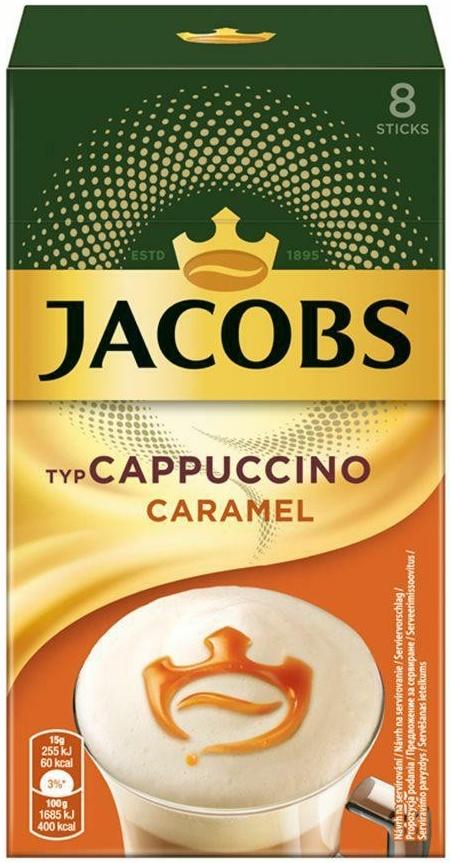 Jacobs Cappuccino napój kawowy o  smaku karmelowym
