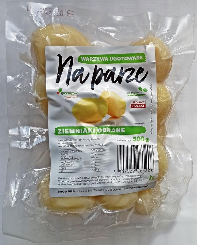 Greengrow Ziemniaki obrane  ugotowane na parze