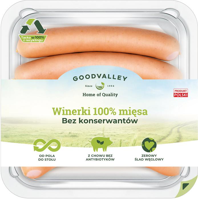 Goodvalley Winerki 100% mięsa bez konserwantów