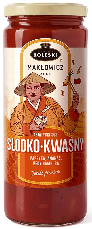 Roleski Makłowicz Menu NOWOŚĆ Azjatycki sos słodko-kwaśny papryka, ananas, pędy bambusa