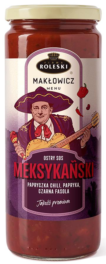 Roleski Makłowicz Menu NOWOŚĆ Ostry sos meksykański papryczka chili, papryka, czarna fasola