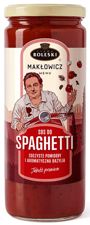 Roleski Makłowicz Menu NOWOŚĆ Sos do spaghetti soczyste pomidory i aromatyczna bazylia