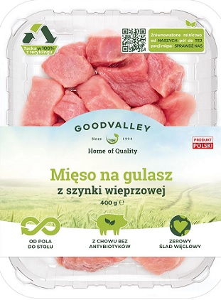 Goodvalley Mięso na gulasz z szynki wieprzowej