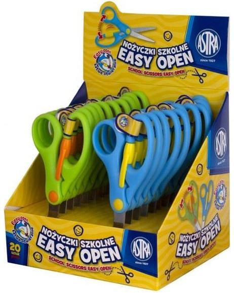 Astra Nożyczki szkolne Easy Open   mix kolorów  13 cm