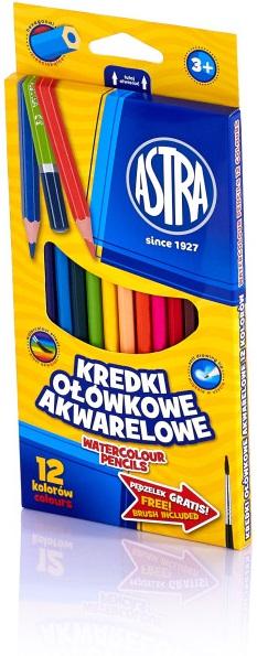 Astra Kredki ołówkowe akwarelowe 12 kolorów