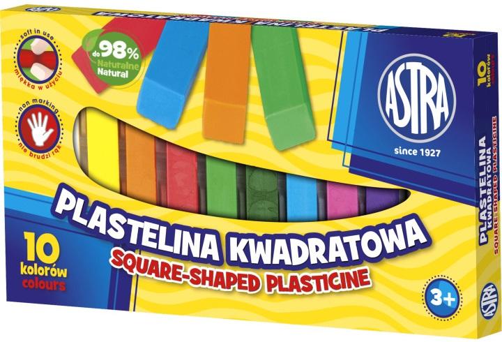 Astra Plastelina kwadratowa 10 kolorów