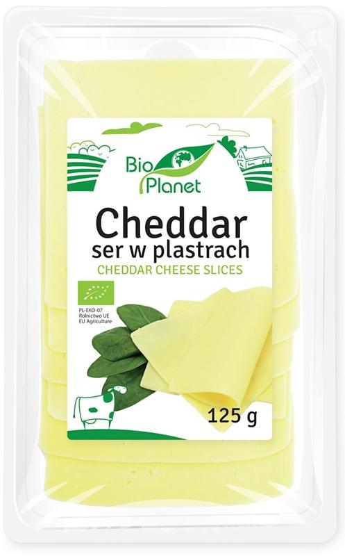 Bio Planet Cheddar ser w plastrach BIO
