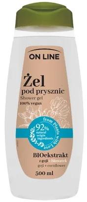 On Line Żel pod prysznic z goji + Bławatek   100% vegan