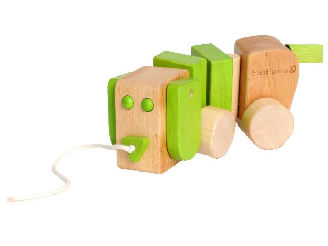 EverEarth Drewniana zabawka piesek na sznurku