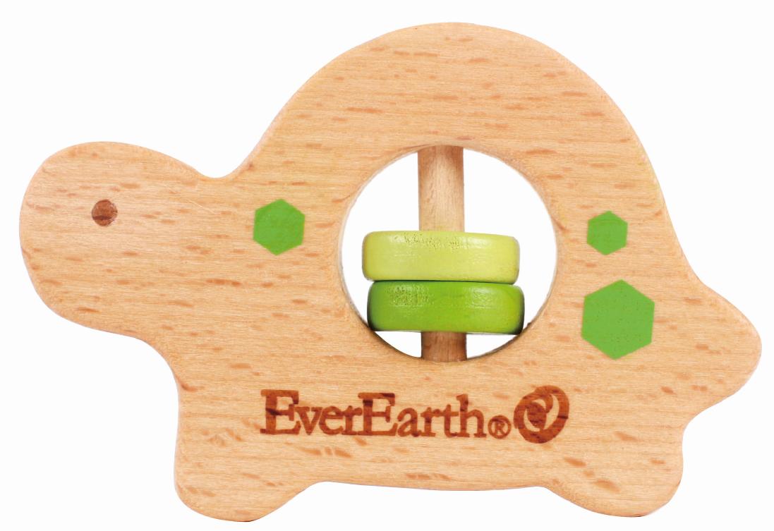 EverEarth Drewniany chwytak - żółw powyżej 3 miesiąca życia