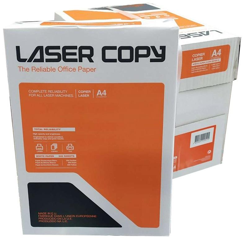 Papier ksero Laser Copy A4 80g/m2, ryza 500 kartek