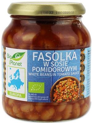 Bio Planet Fasolka w sosie pomidorowym BIO