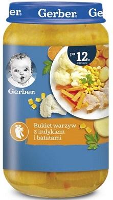 Gerber Bukiet warzyw z indykiem i batatami