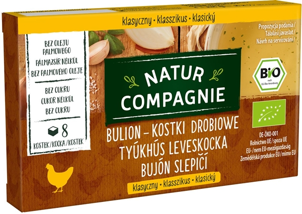 Natur Compagnie bulion kostki drobiowe BIO 8szt