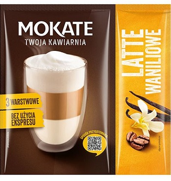 Mokate Kawa rozpuszczalna Latte Waniliowe Bez użycia ekspresu