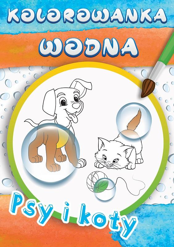 Kolorowanka wodna. Psy i koty Wydawnictwo MD