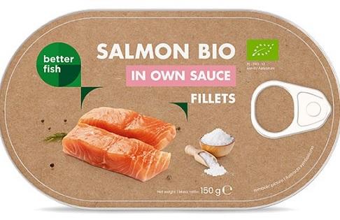 Better Fish Łosoś Filet w sosie Własnym BIO