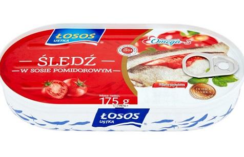 Łosoś Ustka śledź w sosie pomidorowym