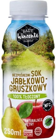 sSady Wincenta sok jabłkowo -  gruszkowy 100% tłoczony