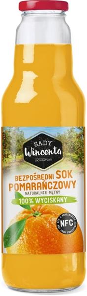 Sady Wincenta sok pomarańczowy 100% wyciskany