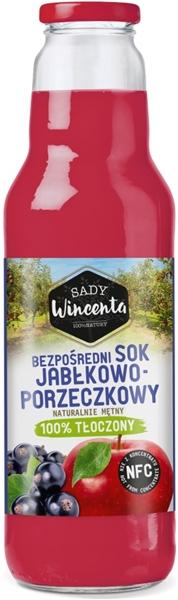 Sady Wincenta sok jabłkowo - porzeczkowy 100% tłoczony