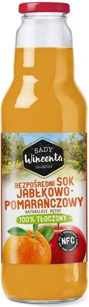 Sady Wincenta sok jabłkowo -  pomarańczowy 100% tłoczony