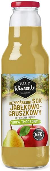 Sady Wincenta sok jabłkowo -  gruszkowy 100% tłoczony