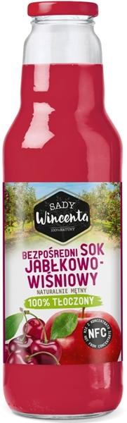 Sady Wincenta sok jabłkowo - wiśniowy 100% tłoczony