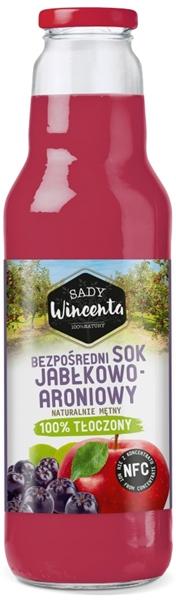 Sady Wincenta sok jabłkowo - aroniowy 100% tłoczony