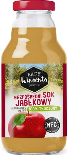 Sady Wincenta Sok Jabłkowy  naturalnie mętny 100% Tłoczony