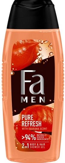 Fa Men Pure Refresh Żel pod  prysznic o zapachu Guarany, do ciała i włosów