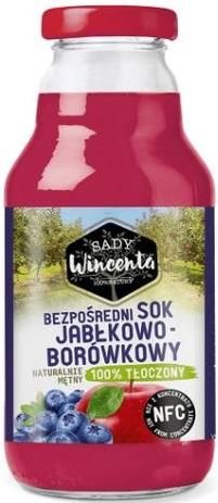 Sady Wincenta sok jabłkowo - borówkowy 100% tłoczony