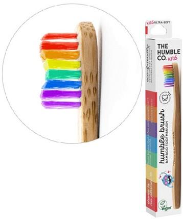Humble Bambusowa szczoteczka dla dzieci Ultra Soft  kolorowa 14,5cm