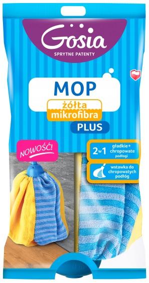 Gosia Mop żółta mokrofibra Plus zapas