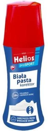 Helios Biała Pasta korektor do Butów, pielęgnuje i odżywia skórę, zabezpiecza przed wnikaniem brudu