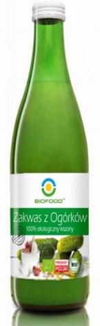 Bio Food Zakwas z Ogórków 100% ekologiczny kiszony