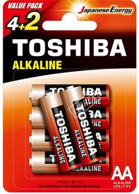 Toshiba Baterie Red Line AA Alkaliczne LR6/1,5V