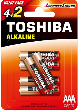 Toshiba Baterie Red Line AAA Alkaliczne LR03 1,5V