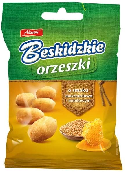 Aksam Beskidzkie orzeszki o smaku musztardowo-miodowym
