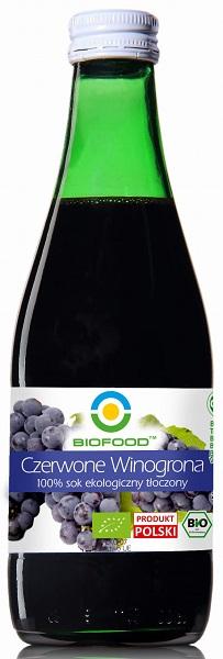 Bio Food Sok z czerwonych winogron BIO bezglutenowy