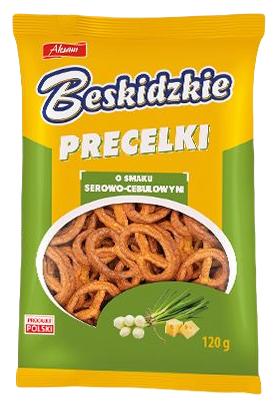 Aksam Beskidzkie Precelki o smaku serowo-cebulowym